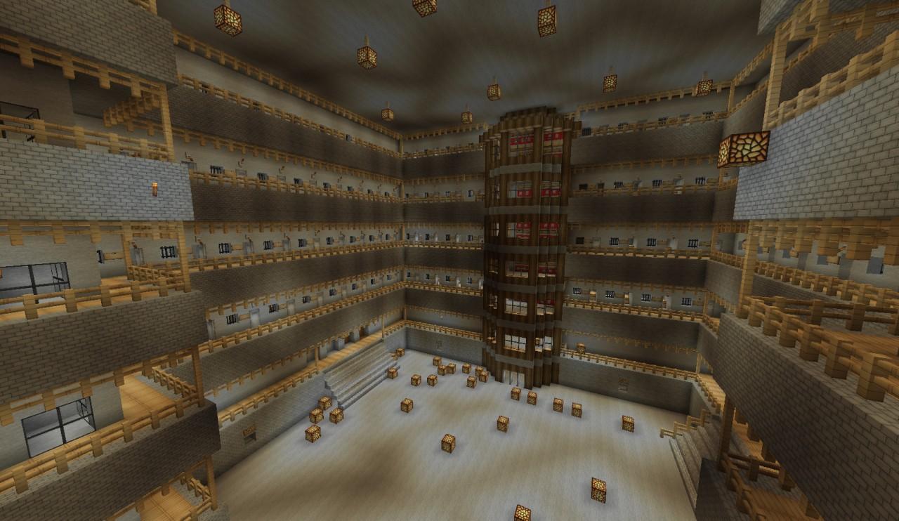 Underground Minecraft Prison Huge Minecraft Project