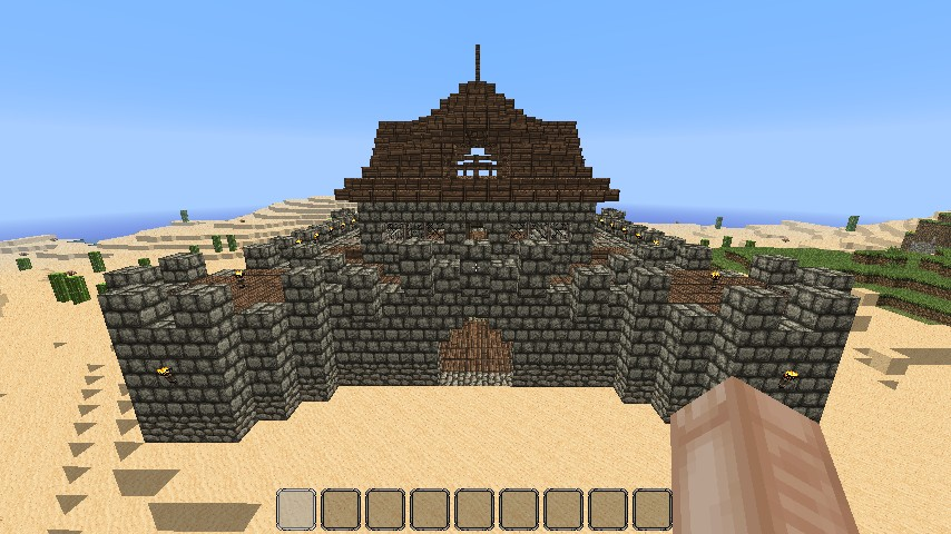 Small Easy to build Castle Minecraft Project
