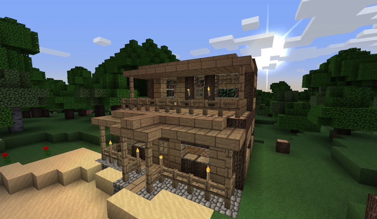 Minecraft Small House Ideas : small house at the beach 2 small house at the beach 2 diamonds