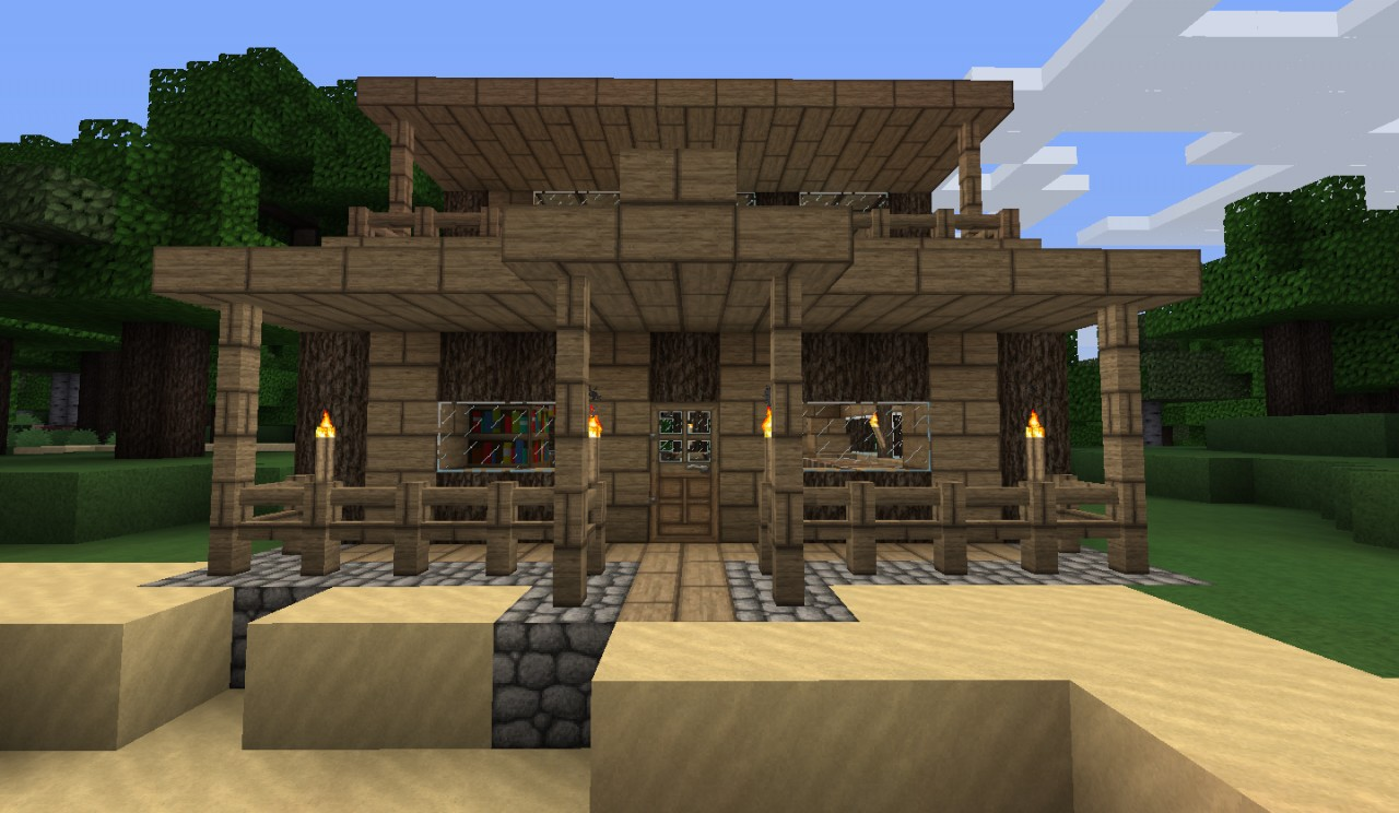 Small House At The Beach Minecraft Project