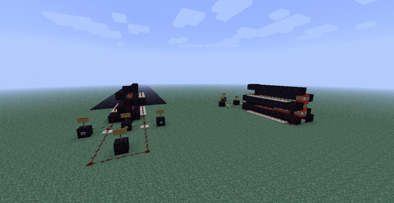 triple tnt canon minecraft project. Black Bedroom Furniture Sets. Home Design Ideas