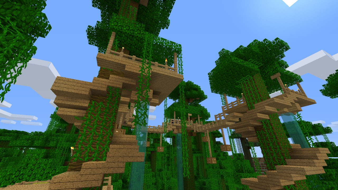 Minecraft Jungle Tree House