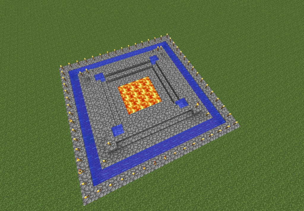 fire pit Minecraft Project