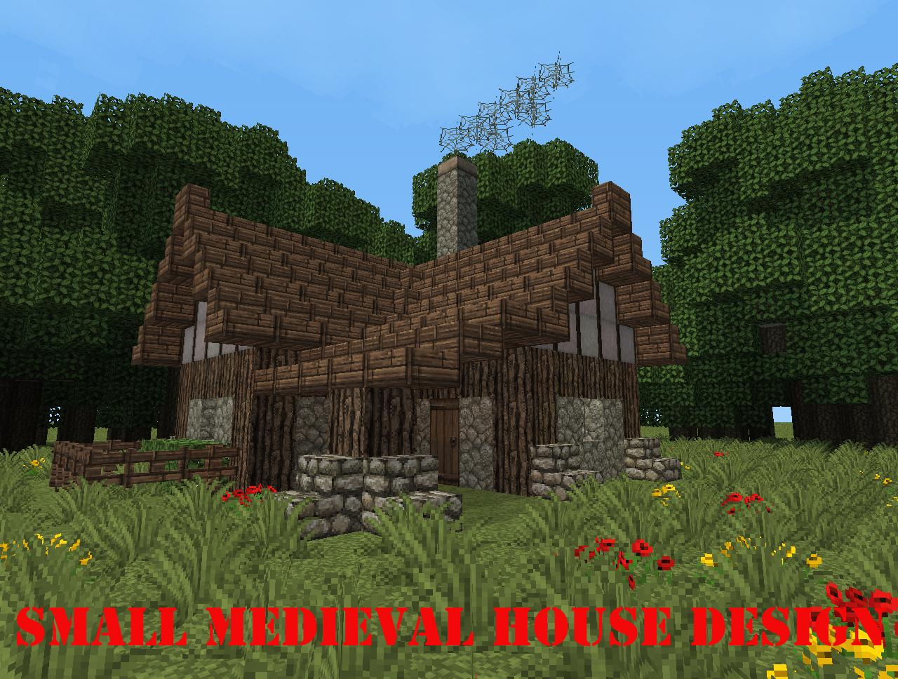Small medieval house design minecraft project for Medieval house design