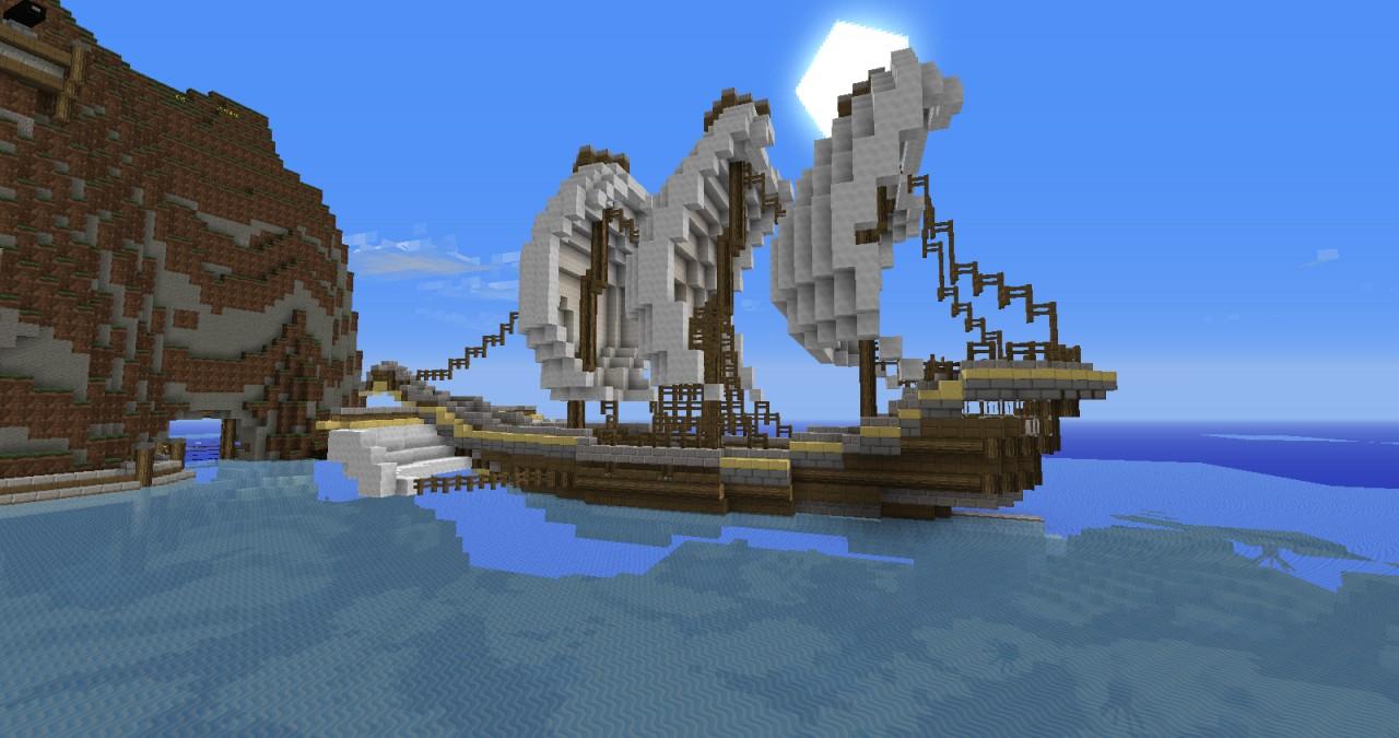 Pirate Ship Minecraft Design Small-pirate-shipPirate Ship Minecraft Design