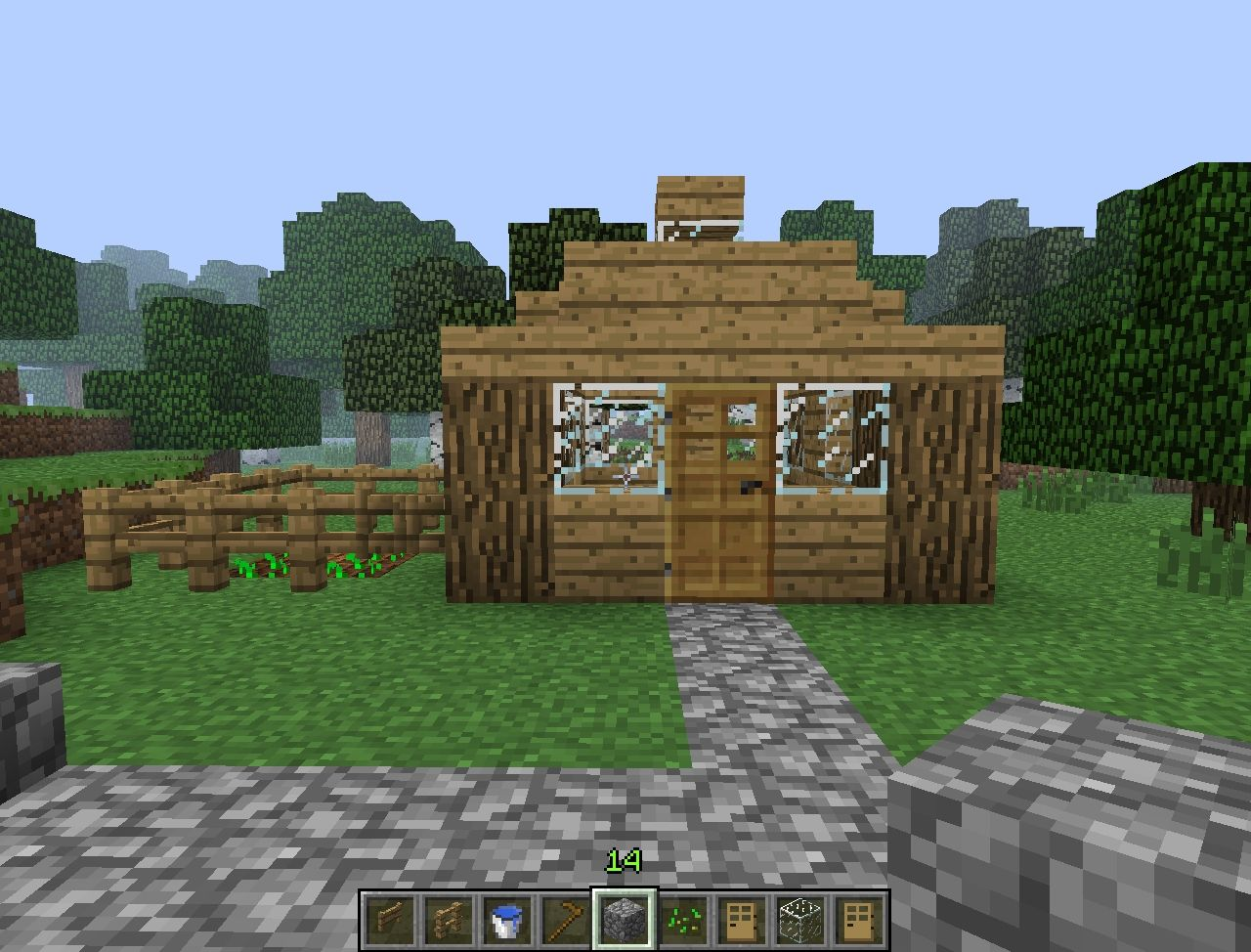 Cabin in the woods survival minecraft project for First time home building guide