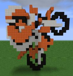 EXCITEBIKE 3D 3DS Icon Minecraft Map & Project