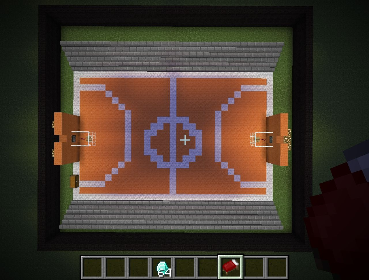 basketball court Minecraft Project
