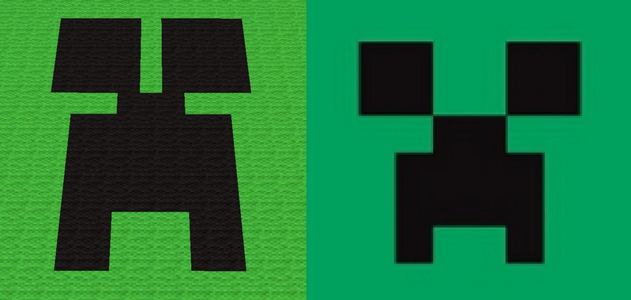 Creeper Face Pixel Art Minecraft Project