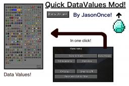 QuickDataValues! Get all the DataValues in one click! Works in MP and no ModLoader required! [1.3.2] Minecraft Mod