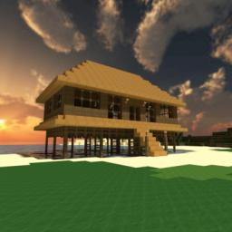 Beach house on stilts Minecraft Project
