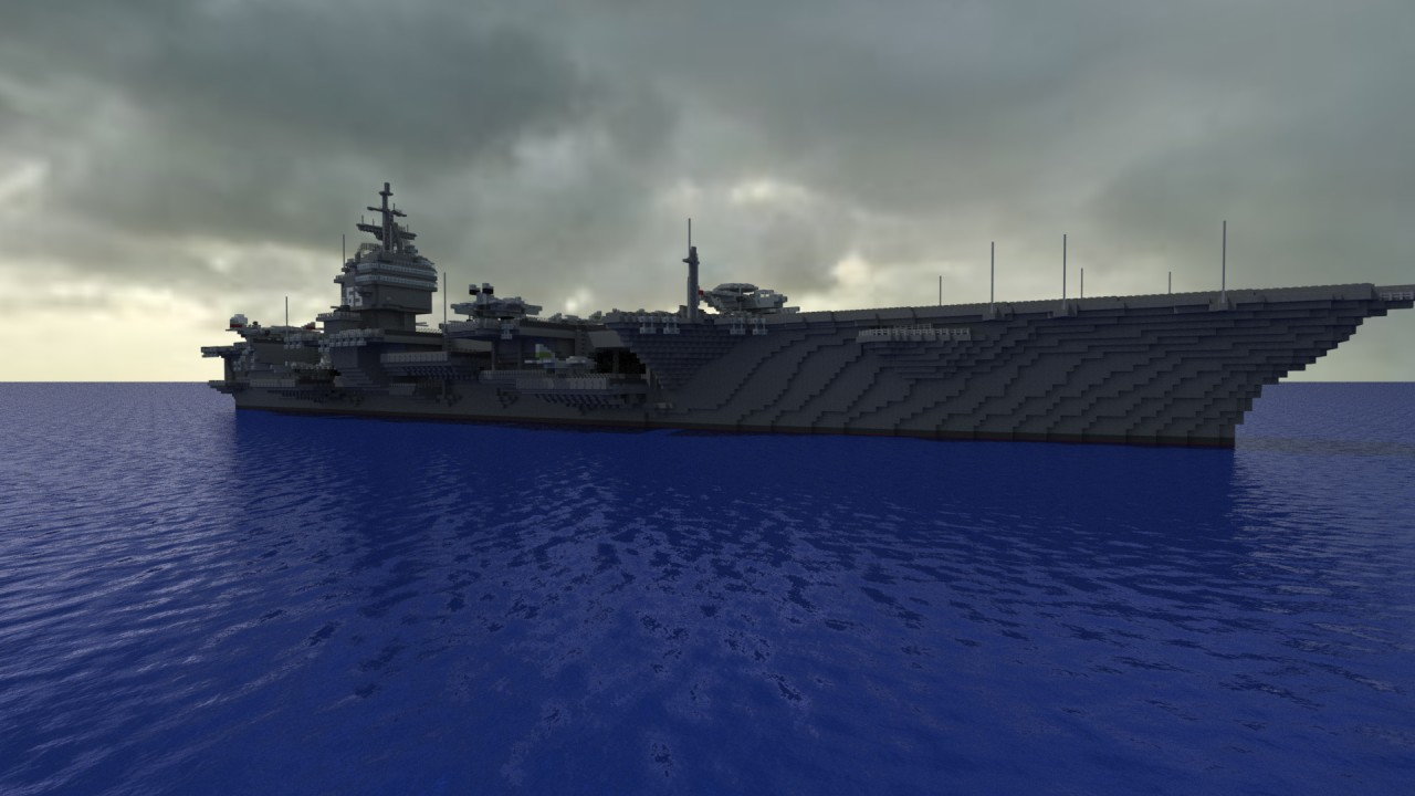 Aircraft Carrier USS Enterprise CVN 65 Minecraft Project