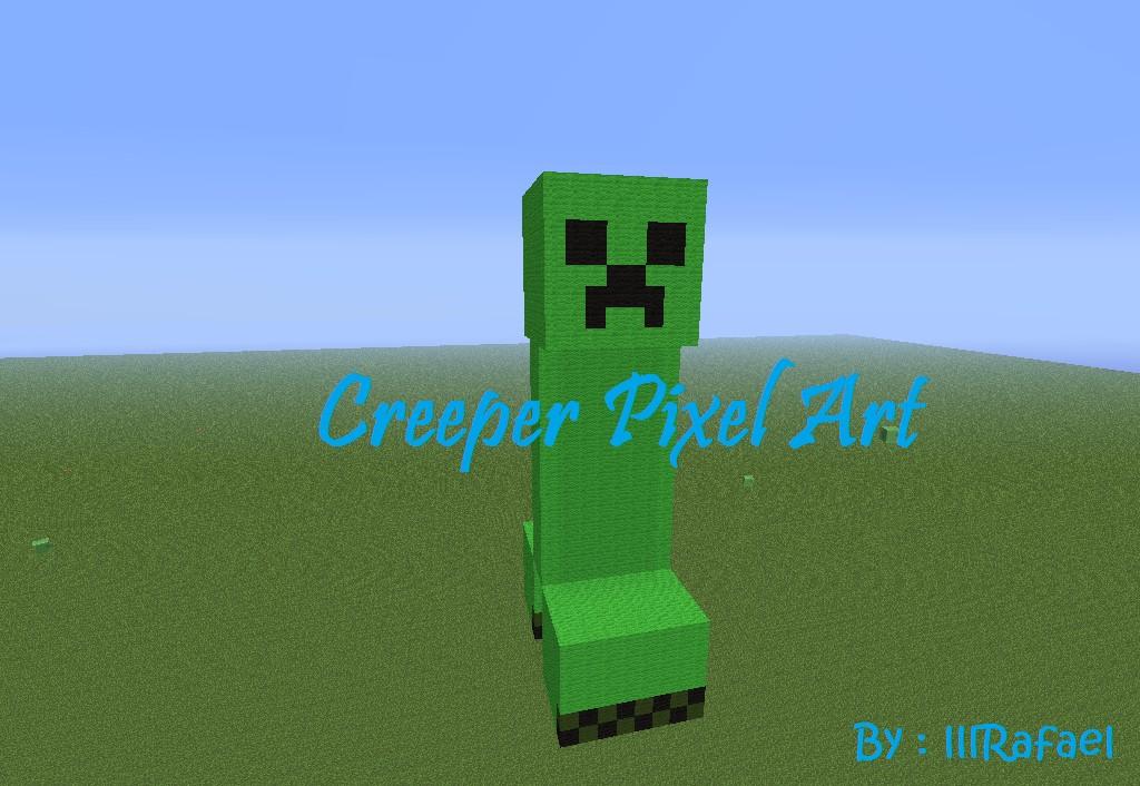 pixel art 3d creeper