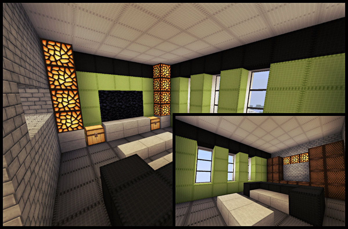 Living room minecraft modern ideas minecraft living room for Minecraft living room ideas xbox