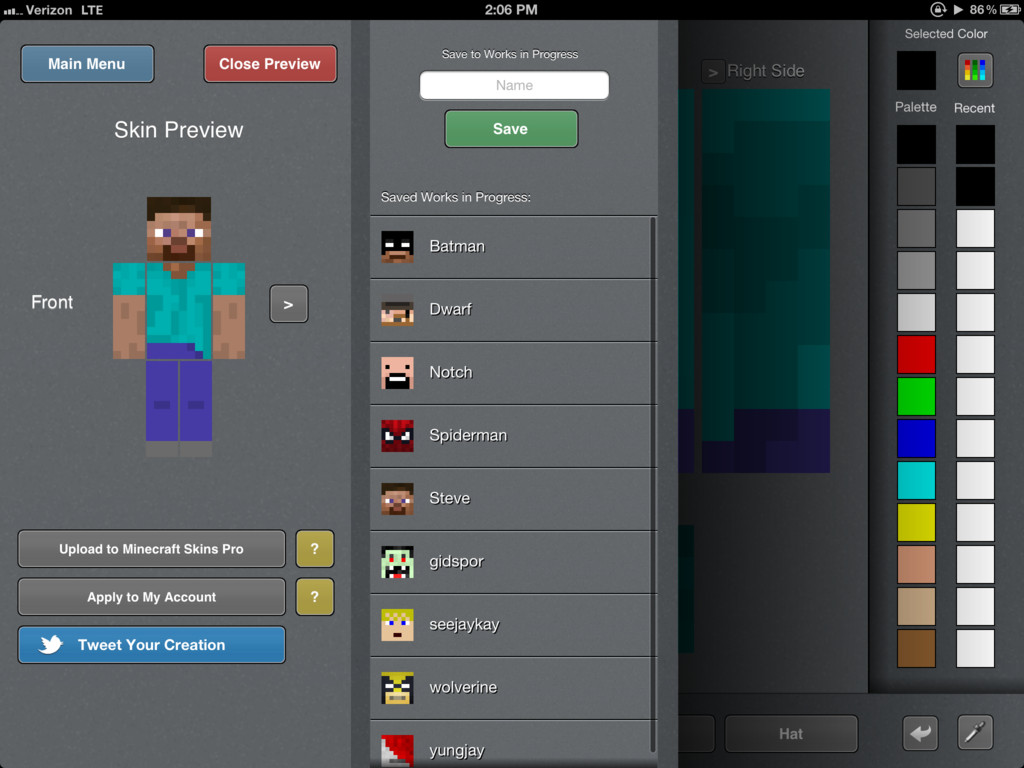 Minecraft Skins Pro Creator IOS Review Minecraft Blog - Minecraft skins fur ios