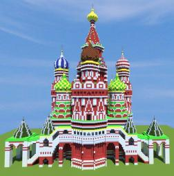 St. Basil's Cathedral (With schematic download) Minecraft Project