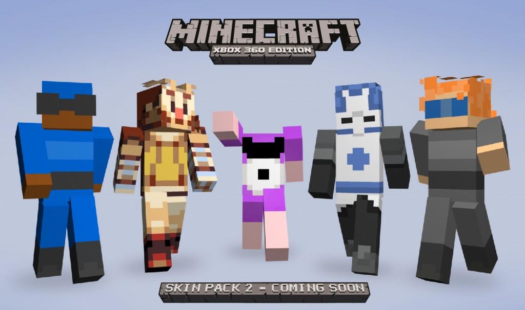 Xbox Skin Pack DLC Minecraft Blog - Minecraft skins fur xbox 360