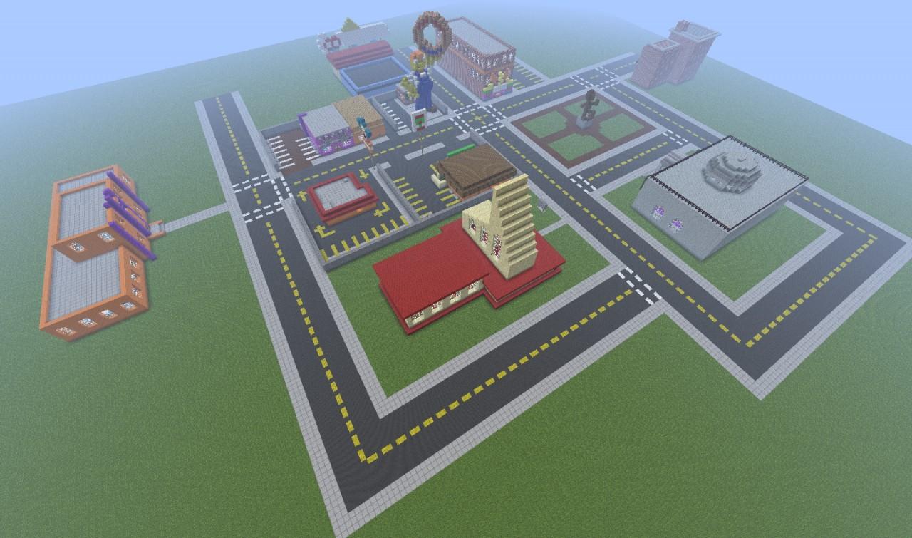 Скачать Карту Спрингфилд для Minecraft