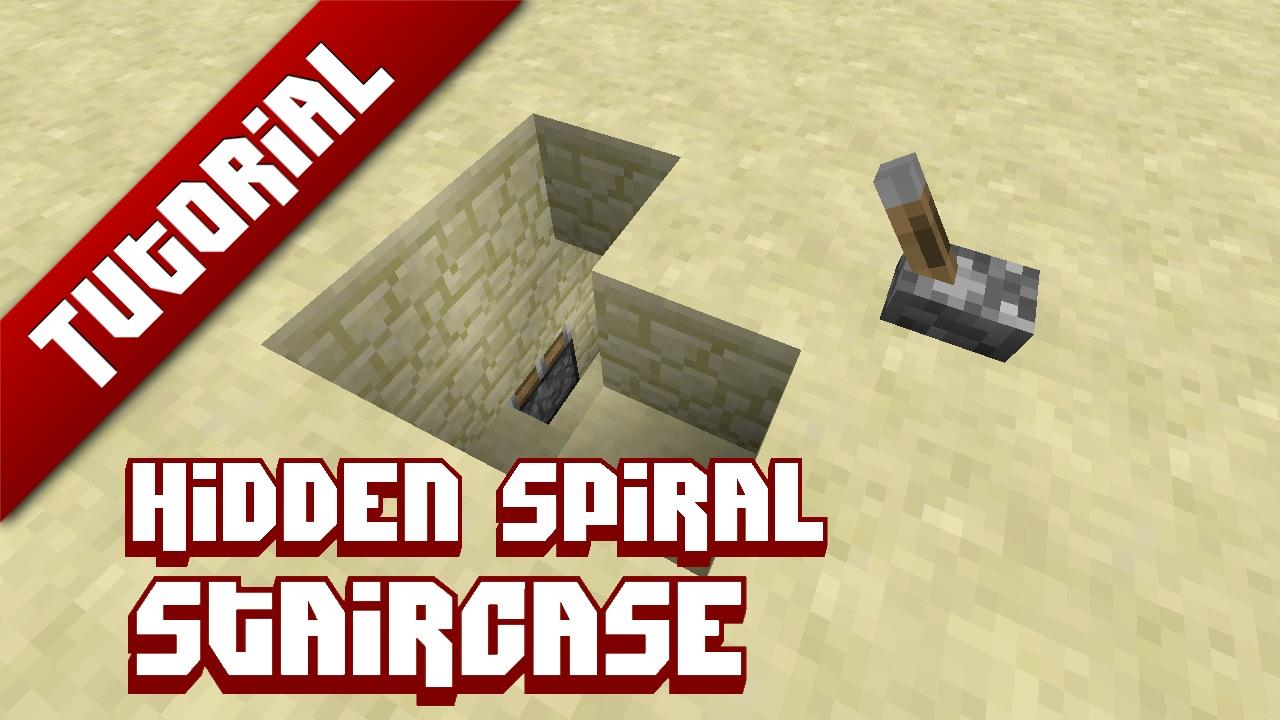 Hidden Spiral Staircase Minecraft Project