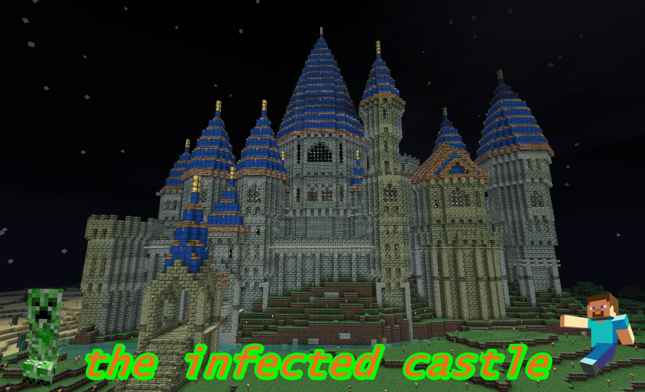 minecraft survival maps 1 8 with Infected Castle Demo on Infected Castle Demo furthermore Amazing Minecraft Builds also Floating Island Survival 12 Floating Islands moreover Medieval Wizards Tower furthermore Fantasy Spawnlobby.