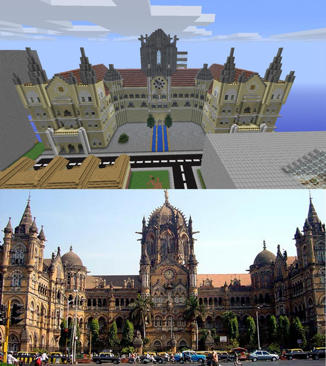 station in real life and in minecraft