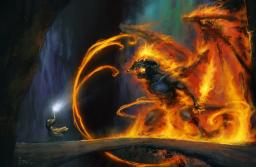Minecraft: Lord of the Rings - Gandalf vs Balrog Video Minecraft Map & Project