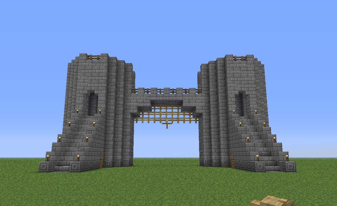 Gallery for minecraft castle wall design simple - Minecraft japanese gate ...