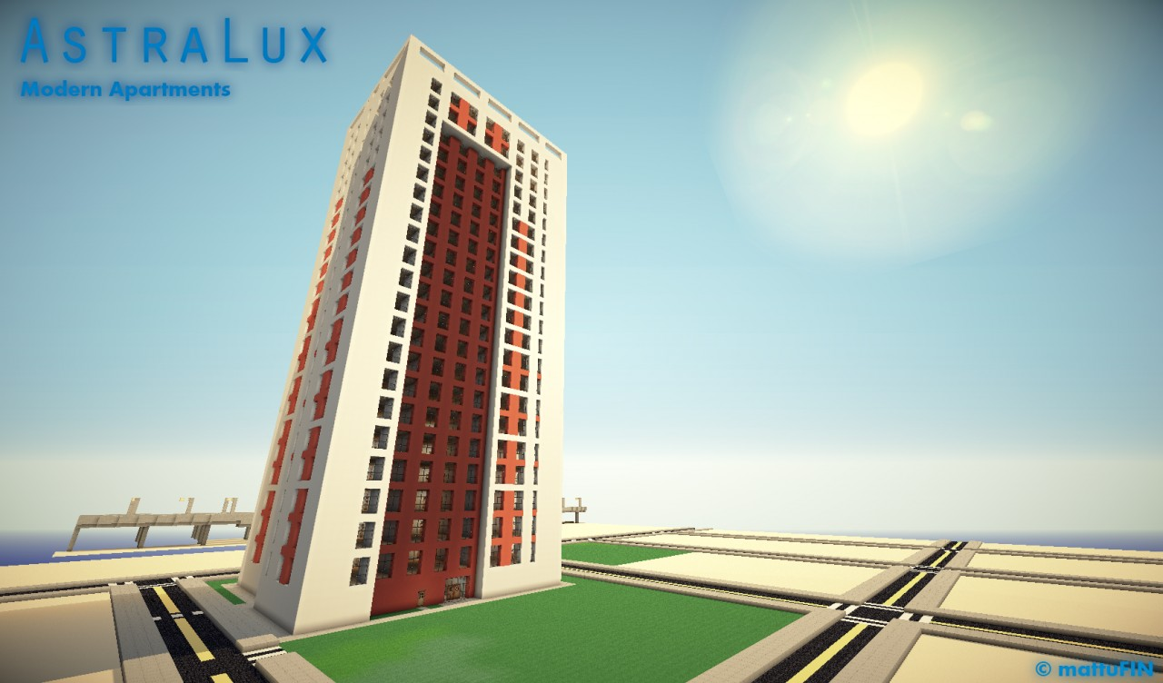 AstraLux Modern Apartments Minecraft Project - Minecraft modern apartment building