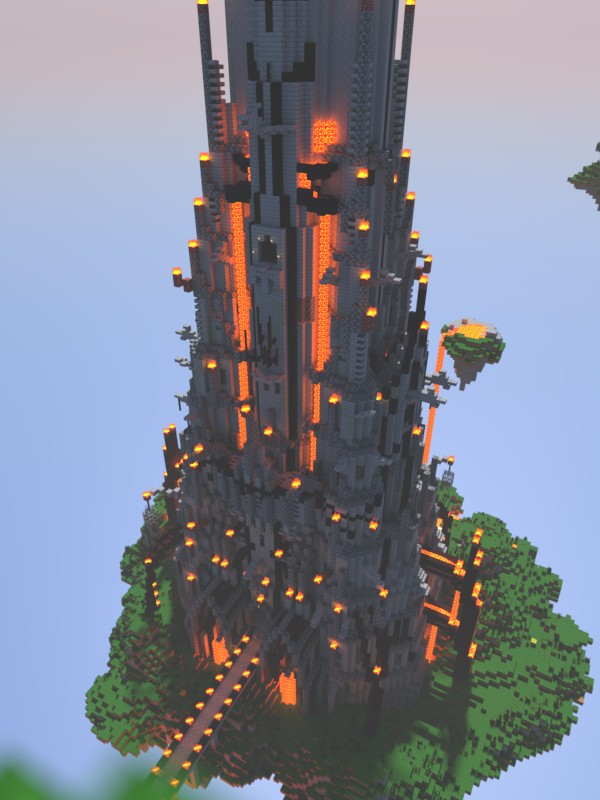 Evil Tower Of Ominousness on Minecraft Castle Blueprints