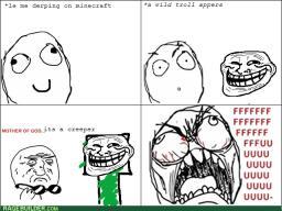Rage Comic - The Troller Minecraft Blog Post