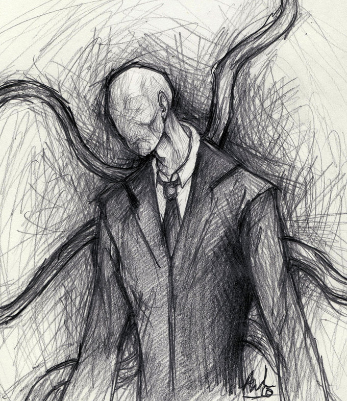 Slender Man Easy Drawing Slenderman