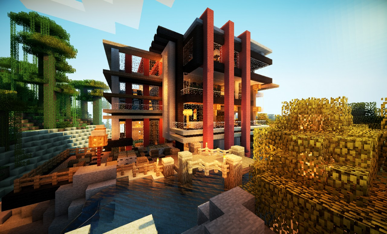 Villa maldiva true luxury minecraft project for Minecraft modern house download 1 8