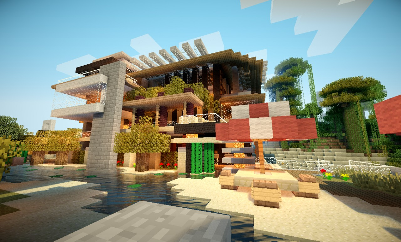 Villa maldiva true luxury minecraft project - Minecraft villa ...