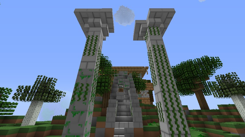 sky house Minecraft Project