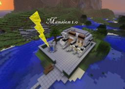 1st Ever Mansion 1.0 With Working Doorbell Minecraft Map & Project