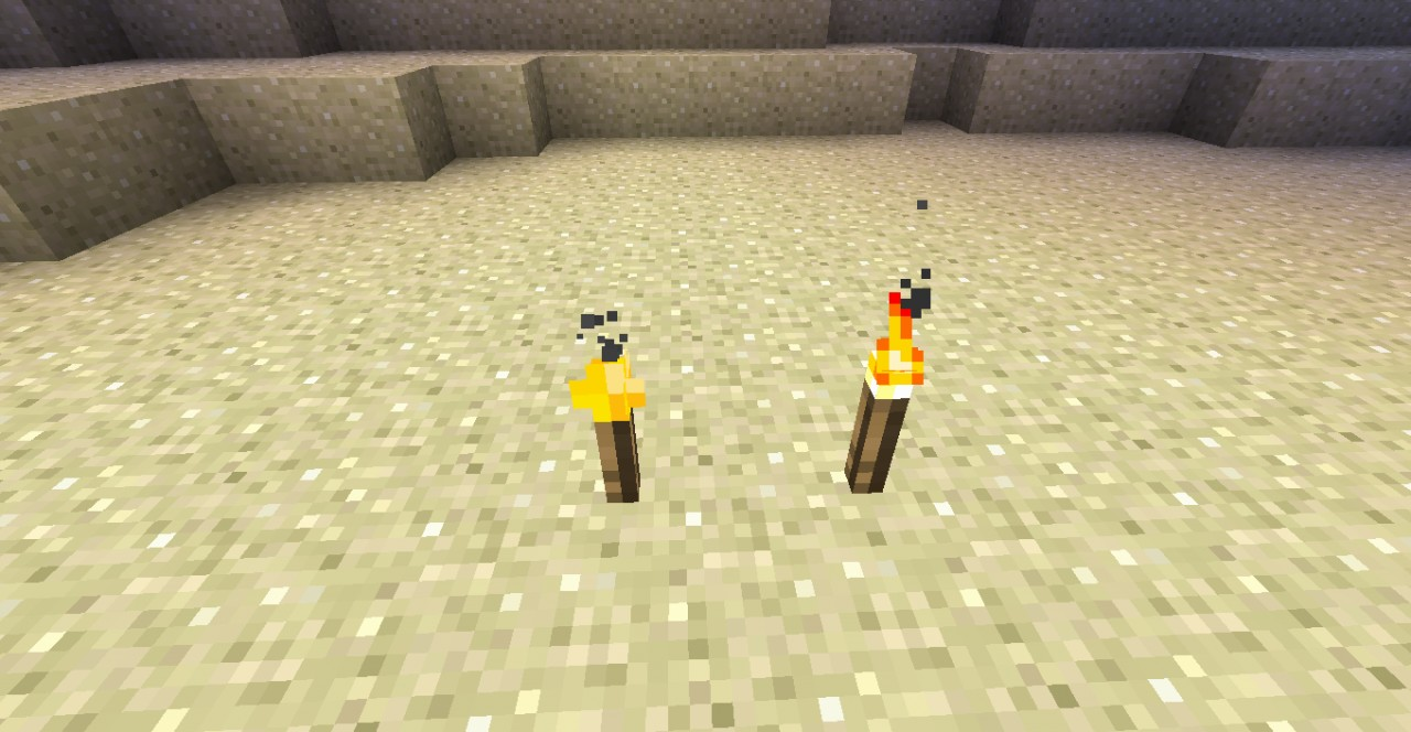 Glowstone torch & Normal torch