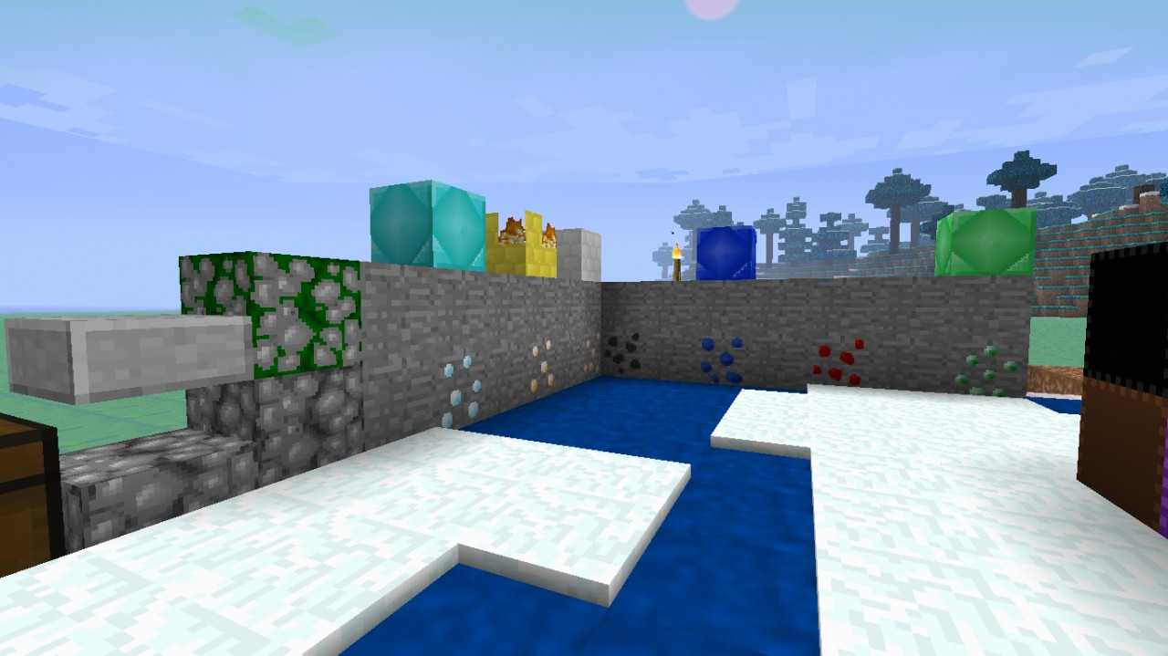 ores (ignore gold block, MCpatcher not installed)