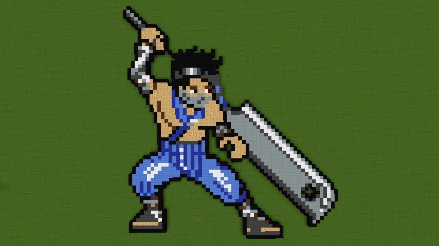 8 Bit Anime Characters : Naruto characters pixel art minecraft project