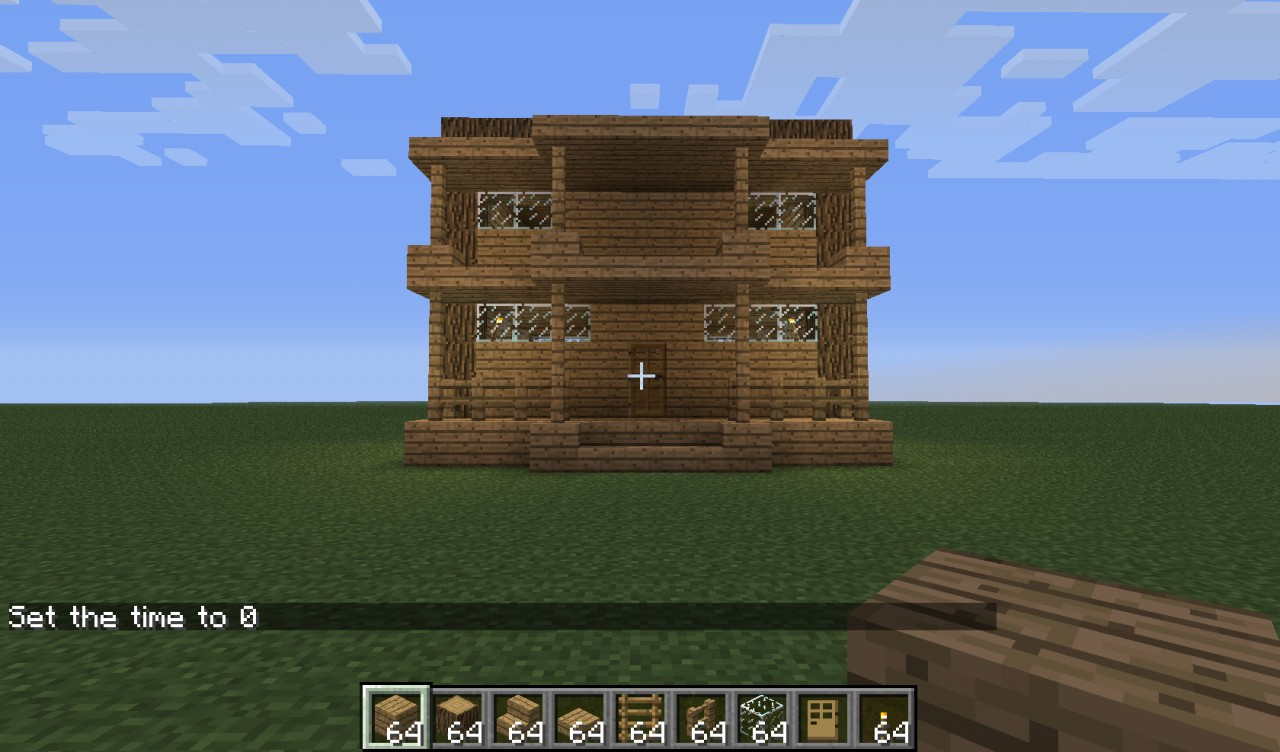 minecraft how to make a house front