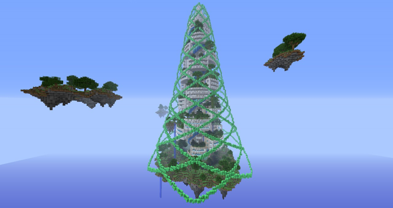 Spiral Tower Minecraft : Spiralcraft sky tower fully explorable minecraft project