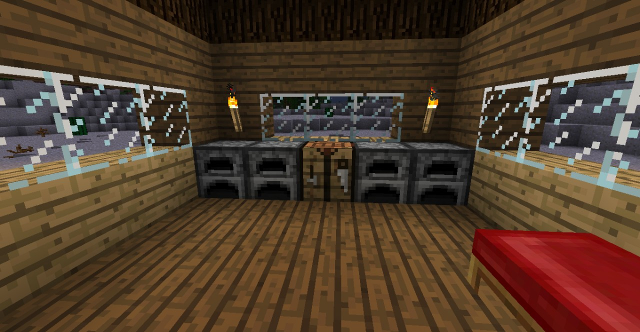 A normal house with torches (ugh)