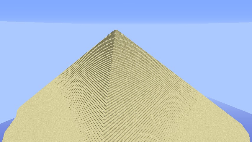 Largest Pyramid Possible In Minecraft Minecraft Project
