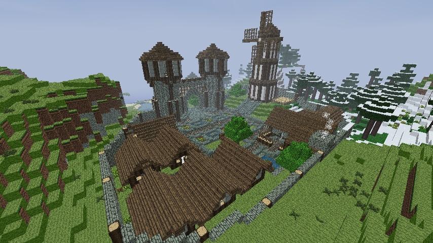 Medieval Village Minecraft Project