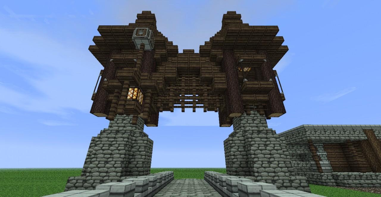 Image of: Minecraft Gate Design In House Design Minecraft Quick Build Venkovsk Dm