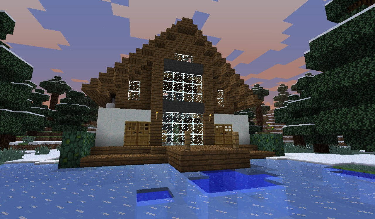 Modern Taiga House Minecraft Project