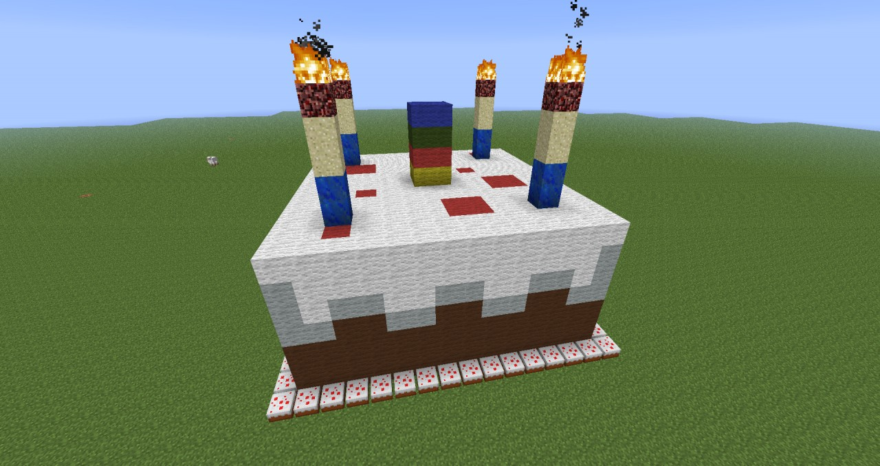 Minecraft Candle Cake