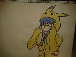 pikachu inspired drawing Minecraft