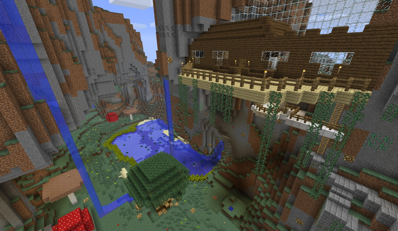 Epic Mountain Biome House The Paradise Minecraft Project