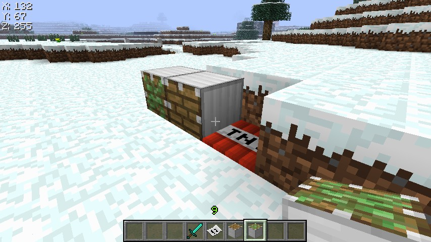 Computer Pistons, and TNT trapdoors XD