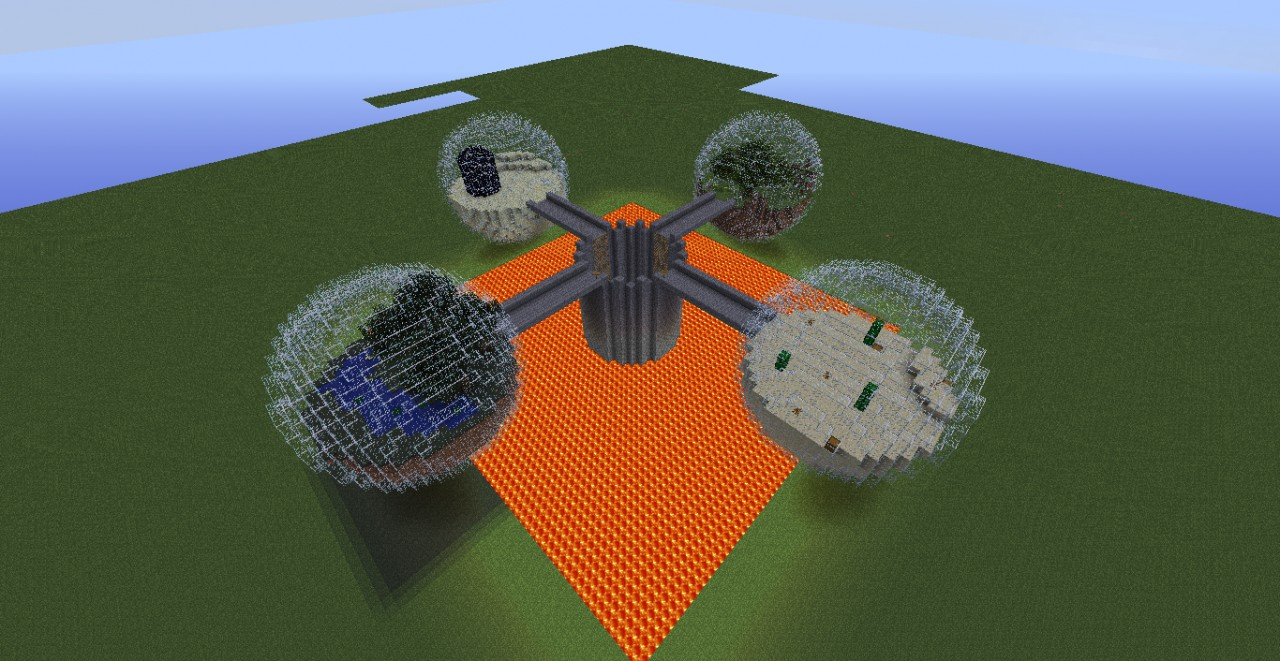 Hunger Games Custom Map - Multi Biome V2.0 Minecraft Project